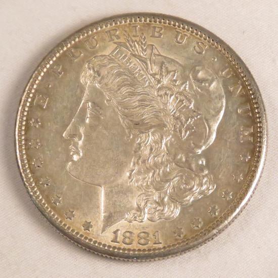 1881 S Morgan Silver Dollar