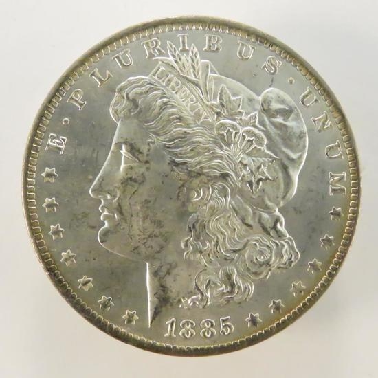 1885 O Morgan Silver Dollar BU