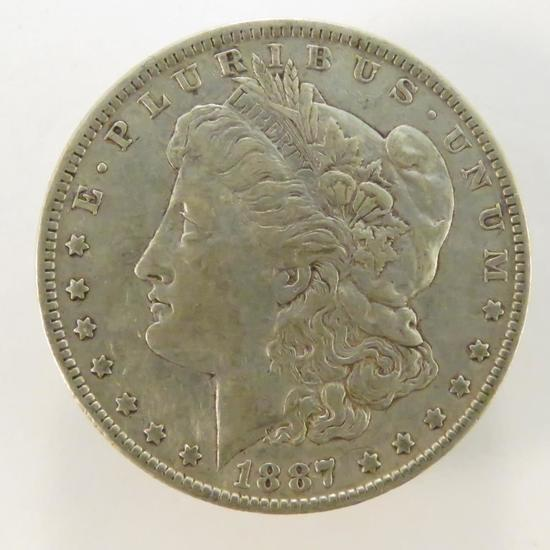 1887 O Morgan Silver Dollar