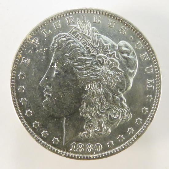 1880 O Morgan Silver Dollar AU