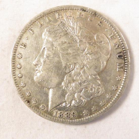 1889 O Morgan Silver Dollar