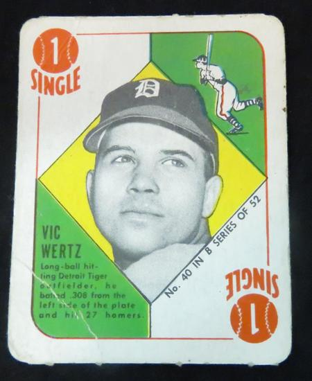 Vic Wertz 1951 Topps Blue Back- Small Crease