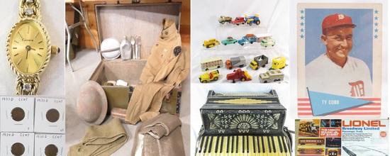1-31-19 Auction-Trains, baseball, military
