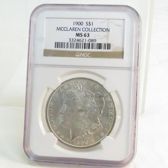 1900 Morgan Silver Dollar NGC Graded MS63