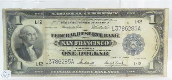 1918 $1 National Currency Note