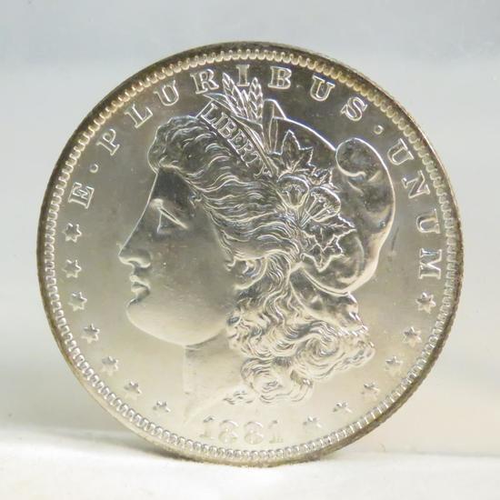 1881 O Morgan Silver Dollar UNC toned reverse
