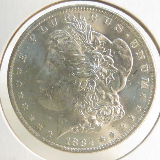1884 O Morgan Silver Dollar BU