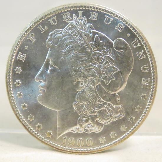 1900 O Morgan Silver Dollar Raised Date Var BU