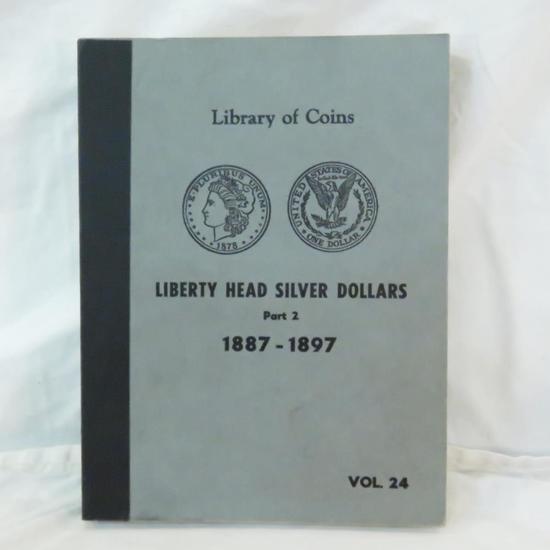 7 Morgan Silver Dollars in book 1887 - 1896