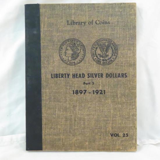 11 Morgan Silver Dollars in book 1898-1921