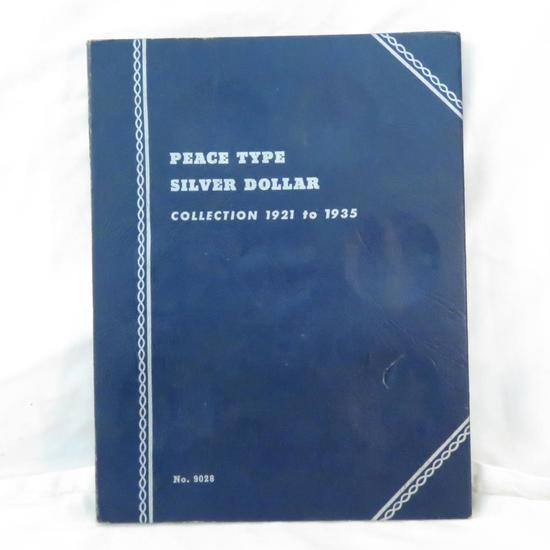 6 Peace Silver Dollars in book 1922 - 1926