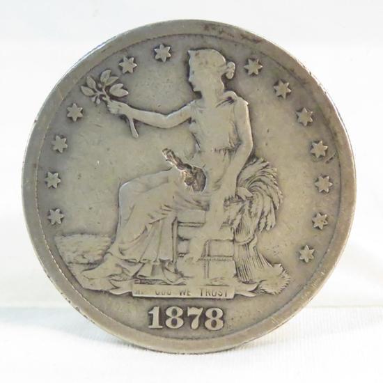 1878 S Trade Dollar- damaged