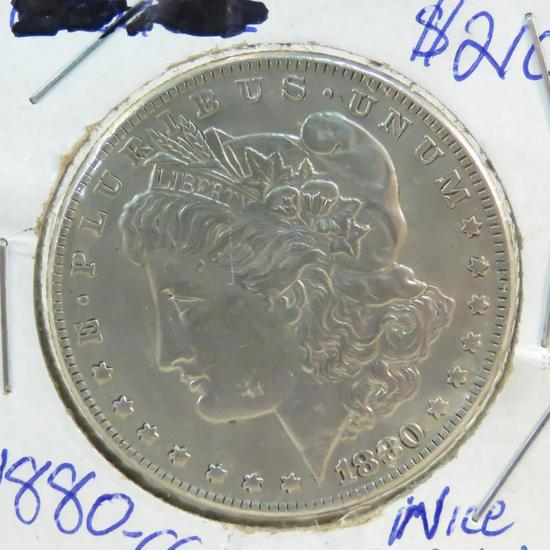 1880 CC Morgan Silver Dollar
