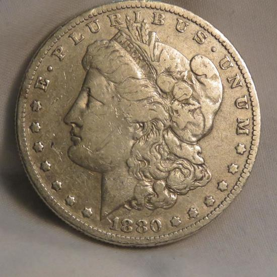 1880 O Morgan Silver Dollar