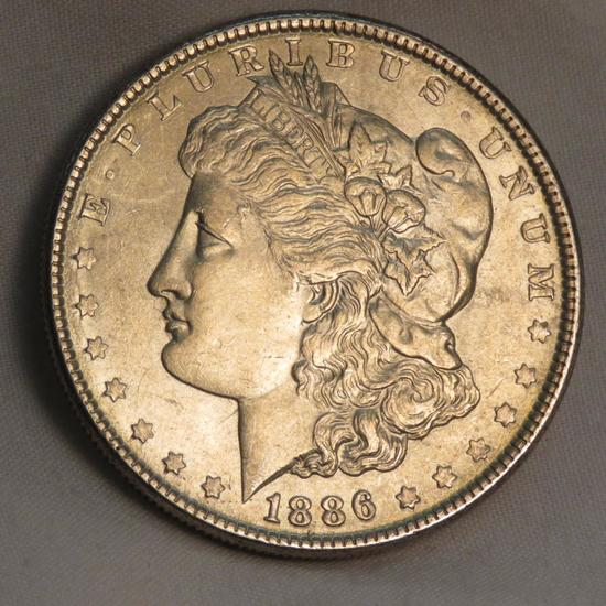 1886 Morgan Silver Dollar AU