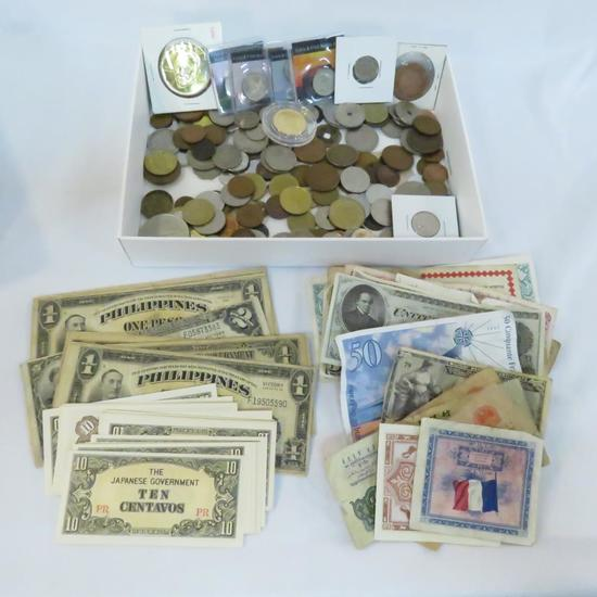 US & Foreign Coins, Currency & Tokens