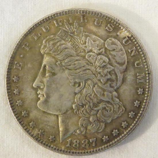 1887 Morgan Silver Dollar AU