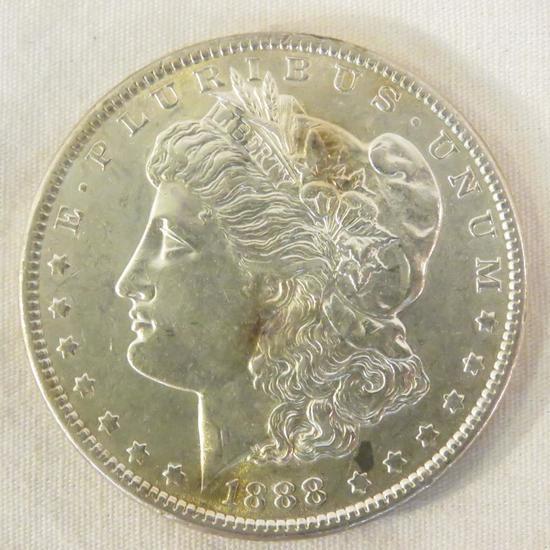 1888 Morgan Silver Dollar AU