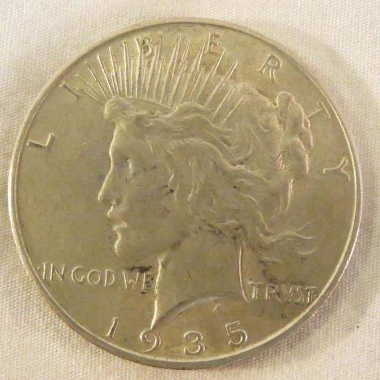 1935 S Peace Silver Dollar