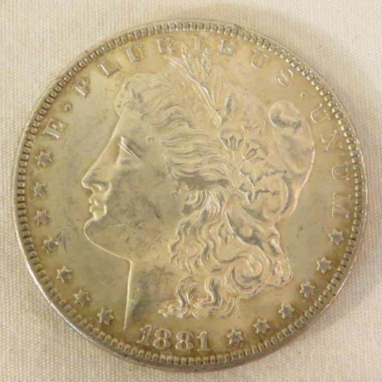 1881 Morgan Silver Dollar AU