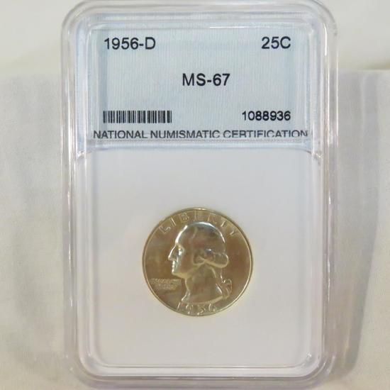 1956 D Washington Silver Quarter NNC Graded MS-67