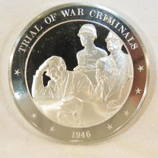 Trial of War Criminals Sterling Silver coin