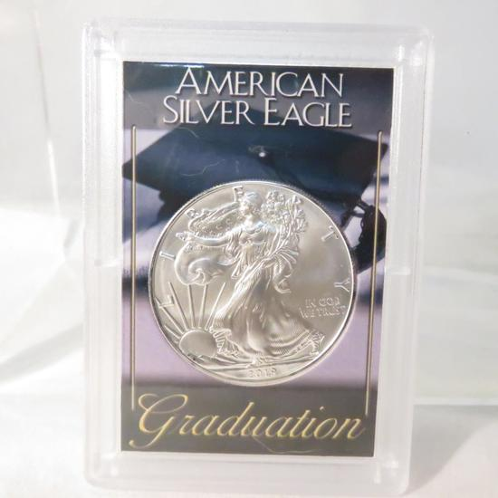 2019 American Silver Eagle in Graduation case BU