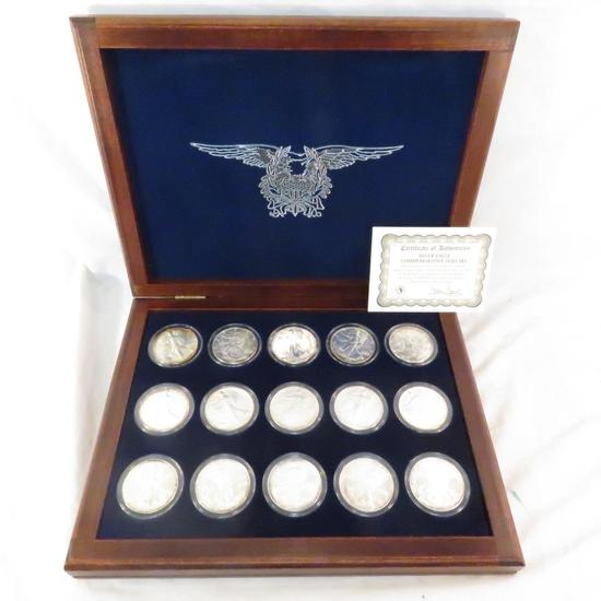 1986-2000 American Silver Eagle dollar collection