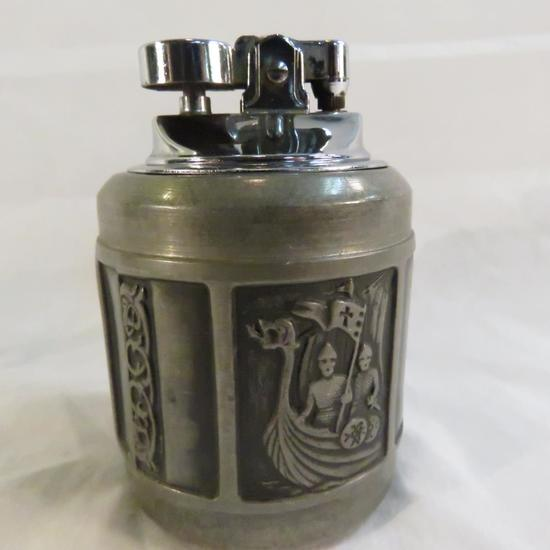 Kongetinn Pewter Norway Table Lighter