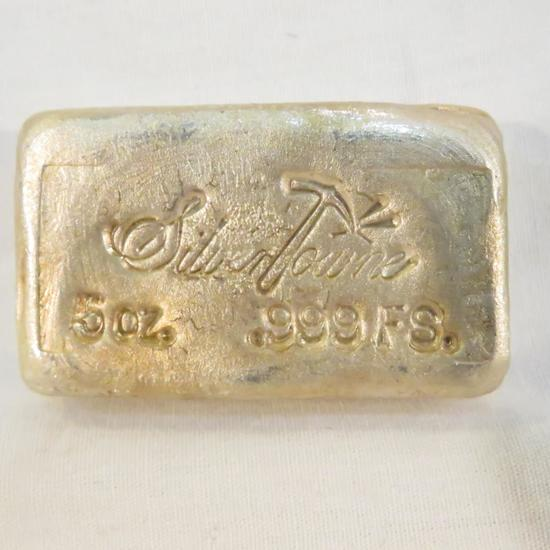 Silver Towne Old Pour 5ozt Silver Loaf Bar