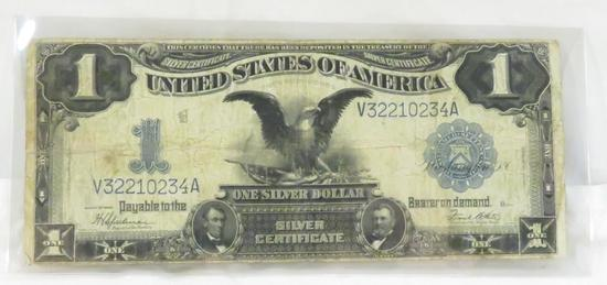 1899 Black Eagle $1 Silver Certificate large note