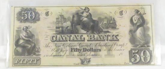 Canal Bank $50 note