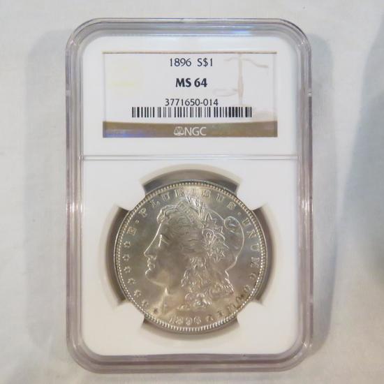 1896 Morgan Silver Dollar NGC graded MS64