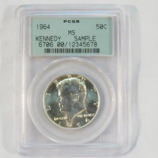1964 Kennedy Half Dollar PCGS MS Sample