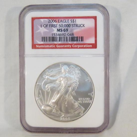2006 American Silver Eagle NGC Graded MS69
