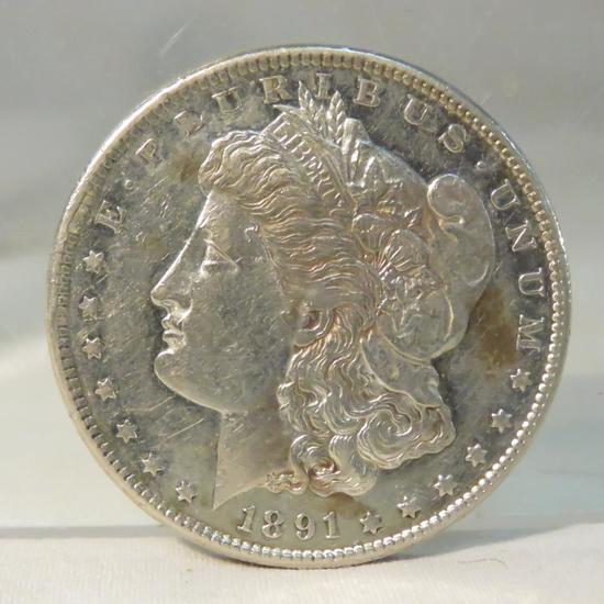1891 S Morgan Silver Dollar
