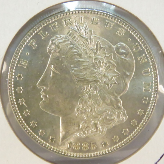 1885 Morgan Silver Dollar BU