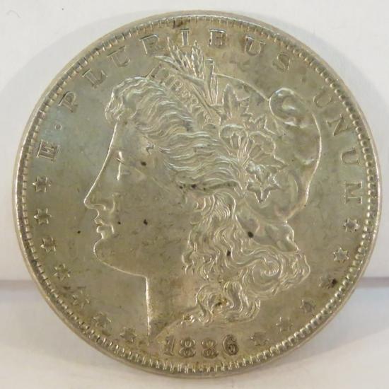 1886 Morgan Silver Dollar AU