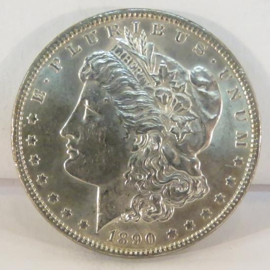 1890 Morgan Silver Dollar AU