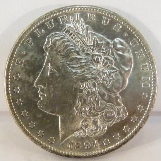 1891 S Morgan Silver Dollar BU