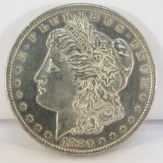 1880 S Morgan Silver Dollar BU