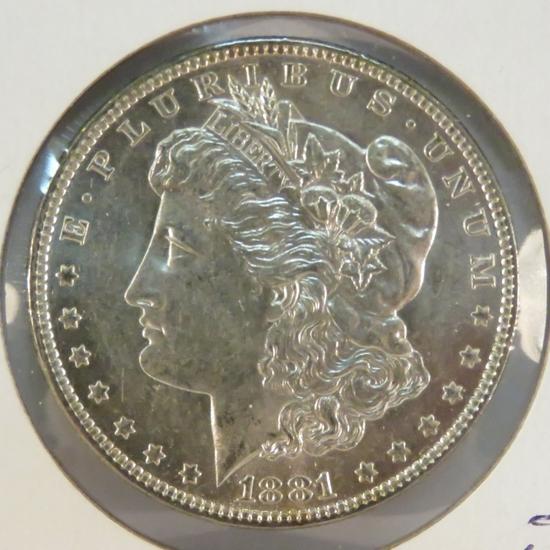 1881 O Morgan Silver Dollar BU