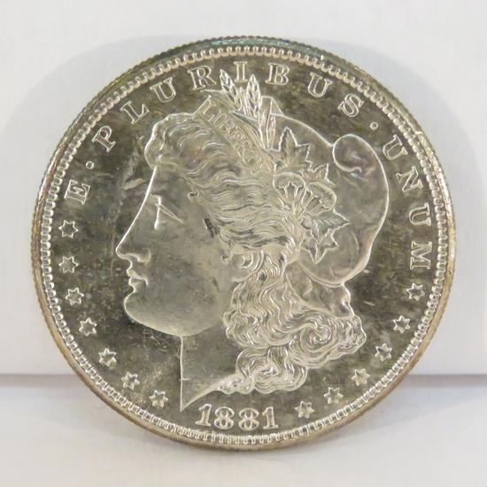 1881 S Morgan Silver Dollar BU DMPLC