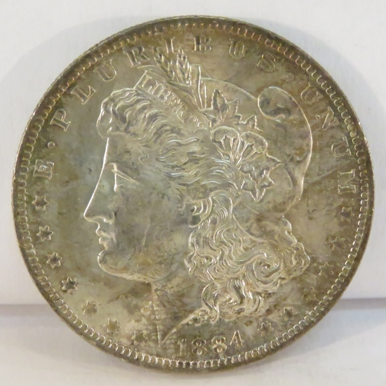 1884 O Morgan Silver Dollar