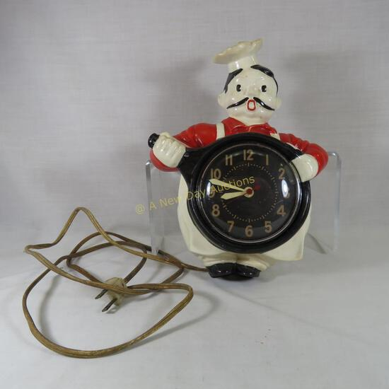Red Wing Pottery Chef clock 1947