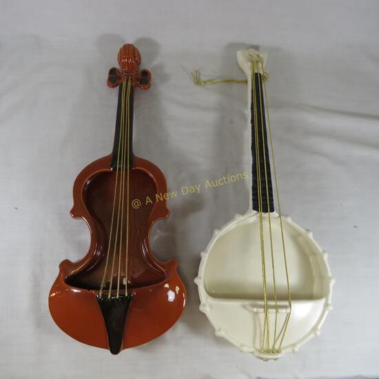 Red Wing Banjo & Violin wall pockets