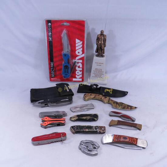 Thomas Jefferson Knife Sculpture & Pocket Knives