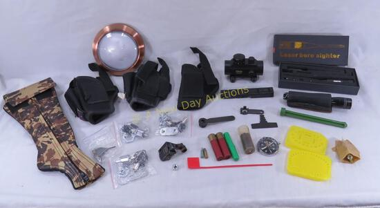 Laser Bore Sighter, Red Dot sight, holsters & more