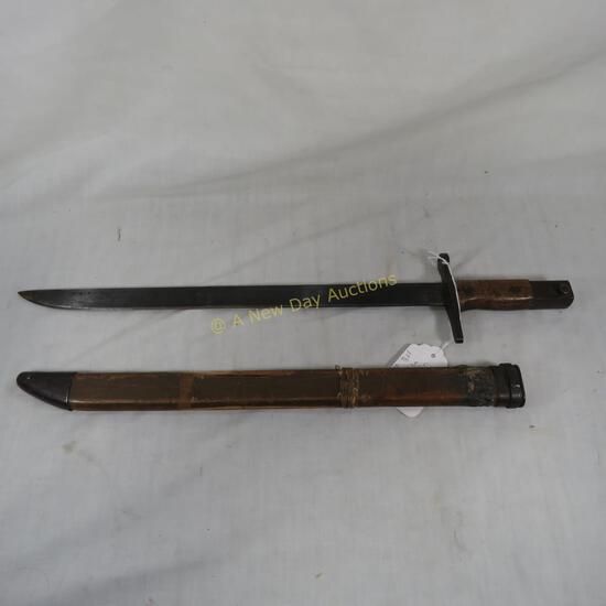 Japanese Type 30 bayonet with sheath
