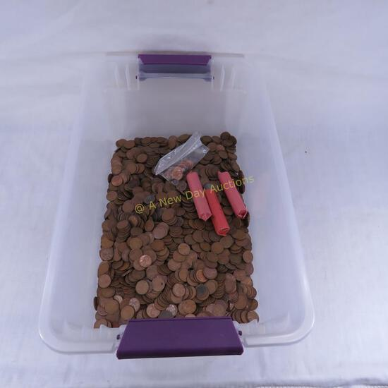 15+ pounds mixed wheat cents